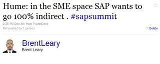 Hume sap wants to go indirect